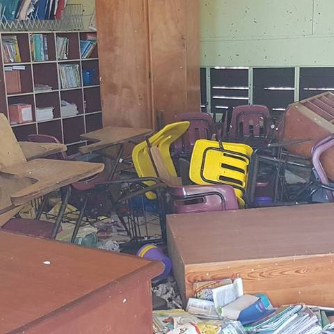Aftermath of Hurricane Irma at Joyce Samuel Primary School