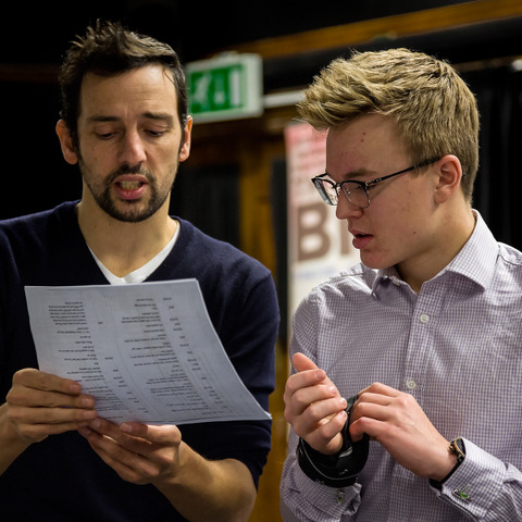 Boys were thrilled to finesse their acting skills with Ralf Little