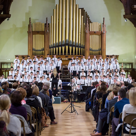 The whole of Y8 sang in a wonderful grand finale
