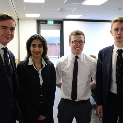 Former pupils return to Bolton School to talk about pharmacy and the dangers of drugs
