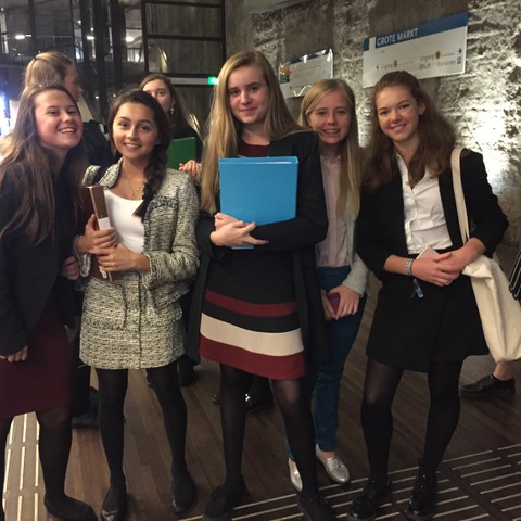 Pupils from Dauntsey's who recently participated in a Model United Nations conference in The Hague.