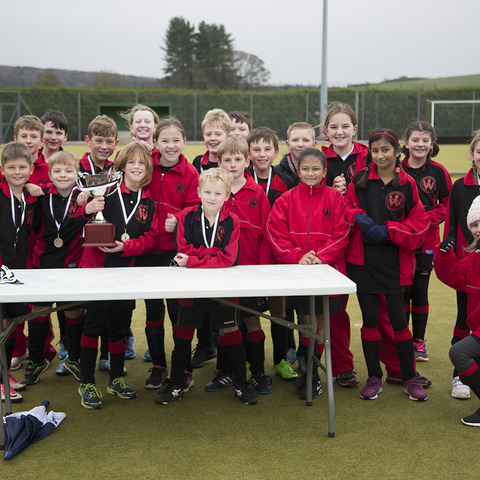 Photograph shows: The winning team from Wansdyke School at Dauntsey's Primary Schools' Mini-Hockey Festival.