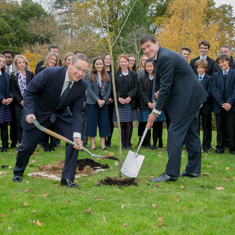 Tree planting at Bede's