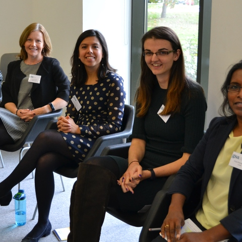Women in Science and Engineering panel: Nimisha Kumari, PhD student at Institute of Astronomy, University of Cambridge; Dr Lisa H Butler, Director, Cl