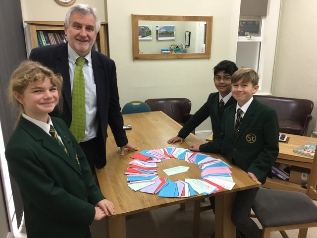 Clive Efford, MP with the Rights Respecting Ambassadors