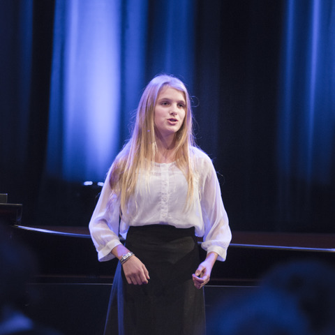 Sophia Vines performing at the school's 'A Little Night Music' concert