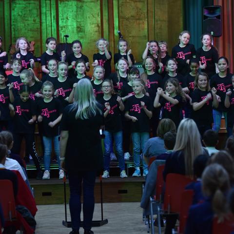 TH Junior Choir performing at the T3 Festival